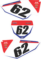 NEW DIRTX INDUSTRIES CUSTOM FACTORY NUMBER PLATE GRAPHICS KIT CRF450 CRF 450R