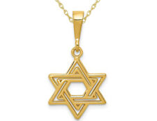 Star of David Pendant in 14K Yellow Gold W Chain