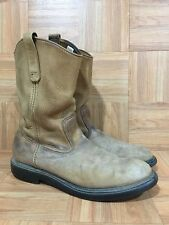 Vintage🔥 Red Wing Pecos Light Brown Leather Aged Pull On Boots Sz 11.5 A Worn