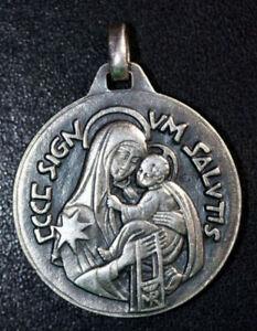 """Médaille religieuse """"Sacré Coeur de Jésus / Vierge à l'Enfant"""" Grav: Fernand  Py"""