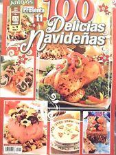 "MEXICAN COOKING RECIPES IN SPANISH ""100 DELICIAS NAVIDEÑAS""  CHRISTMAS PLATES"