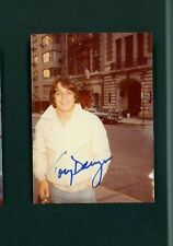 TONY DANZA SIGNED VINTAGE 3X5 COLOR SNAPSHOT PHOTO TAKEN BY FAN ON THE STREET