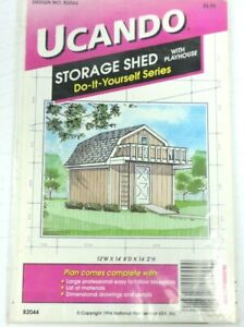 Ucando Storage Shed With Playhouse Do It Yourself Blueprints Designs B2044 Plans