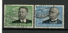s31238) GERMANY 1934 USED Air Mail 2 high values 2dm + 3dm Zeppelin 2v
