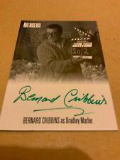 THE COMPLETE AVENGERS SERIES 1 BERNARD CRIBBINS AVBC1 AUTOGRAPH CARD GREEN INK