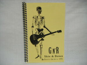 1993 Guns N Roses Use Your Illusion America Tour Itinerary Book Skin N Bones H