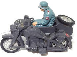 BRITAINS MOTORCYCLE - GERMAN W.W.II SIDECAR ETC - RESTORE