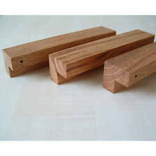 Massivholz MÖBELGRIFF geölt EICHE MINIMAL DESIGN ELEGANT Küche NEU BA 128 mm