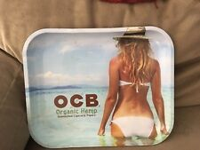 OCB Organic Hemp Unbleached Cigarette Papers Rolling Tray Vintage