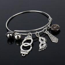 Fifty Shades of Grey Pendant Bangle Bracelet