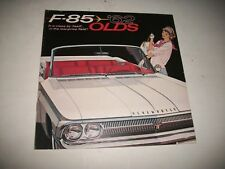 ORIGINAL 1962 OLDSMOBILE  F-85 SALES BROCHURE CUTLASS CLUB COUPE CONVERTIBLE