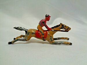 Early 1900s Grand National Steeplechase Derby Racehorse Horse Racing Lead Toy