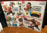 LOT of 4 Nintendo Labo Toy-Con 01+02+03+04 Variety Robot kit Vehicle kit VR kit