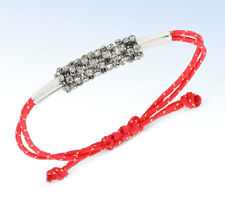 STEVE MADDEN Silver-Tone CRYSTAL Macrame Friendship Bracelet