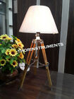 Beautiful Nautical wooden Tripod Decorative Floor shade lamp with stand