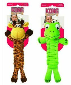 "Kong Bendeez - SET OF (2) - GIRAFFE & TURTLE - 16"" Dog Fetch Chew Toy Squeaks"