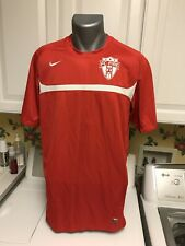 Nike Dri Fit Men's T-Shirt Large Red Polyester Fc Fire Logo #11