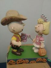 Enesco Jim Shore Peanuts Halloween Charlie Brown Sally Trick or Treat 6006944
