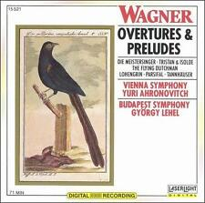 Wagner Overtures & Preludes NEW CD 71 min Vienna Sym