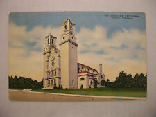 VINTAGE LINEN POSTCARD OF ST. CECILIA'S CATHEDRAL IN OMAHA, NEBRASKA UNUSED