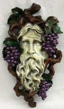 Green Grape Multicolor Spirit Nectar Grapes Greek Plaque Bacchus Vine Greenman