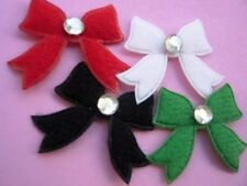 90 July 4 Red,Navy,White Patriotic USA Felt Star Applique+Rhinestone//Craft H578