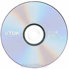 15 New TDK 8X Logo 8.5GB Double Dual Layer DVD+R DL [FREE USPS Priority Mail]