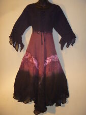 Dress Fits XL 1X Christmas Renaissance Black Pink Corset Lace Up Chest NWT 603
