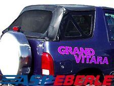 Verdeck Softtop schwarz mit klare Scheiben Suzuki Grand Vitara FT Bj. 99-04