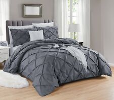 Luxury Duvet Cover with Pillowcase Pintuck-Wrinkle-Sequin Bedding Sets All Sizes