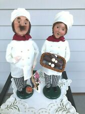 Byers Choice Carolers 2005 Chef Man & Baker Woman Christmas -Excellent Condition
