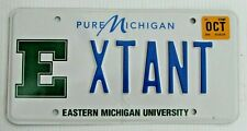 "E EASTERN STATE UNIVERSITY VANITY AUTO LICENSE PLATE "" XTANT "" EXTANT EXTINCT"
