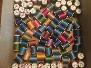 152 Wooden Spools J&P Coats Boilfast & Star Twist Will Boil Mercerized Thread