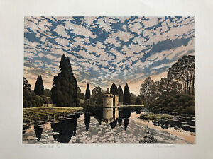 """GRAHAM EVERNDEN (b1947) Limited Edition ETCHING """"Scotney Castle"""" ed 350"""