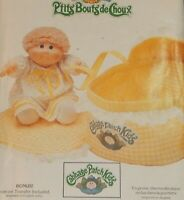 Cabbage Patch Kids Butterick 6661 Sew Pattern Bed Carrier, Blanket w/Transfer