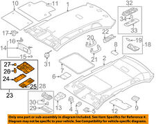 Vw Volkswagen Oem 11-18 Jetta Roof-Front Lamp Assembly 1K0947106Pwrc