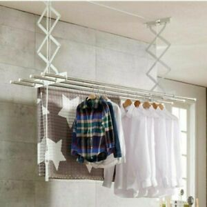 Retractable Ceiling Clothes Dryer Laundry Lifter Airer Drying Rack Indoor Patio