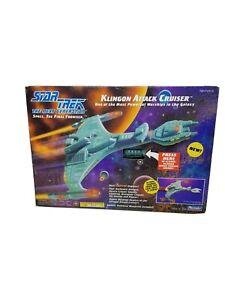STAR TREK Next Generation KLINGON ATTACK CRUISER 1993 by Playmates 6155 light-up