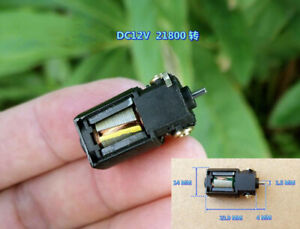 2pcs DC 12V 21800RPM Five-Pole Rotor Reverse Axis Carbon Brush Motor For Toy Car