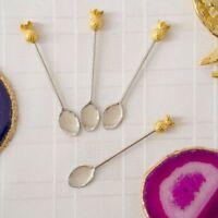 Talking Tables Metal Spoons with pineapple handles, 4Pack