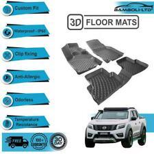 3D Molded Interior Car Floor Mat for Nissan Navara Frontier 2014-UP (Black)