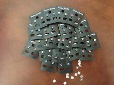 WHOLESALE-30 pairs of colour rhinestone diamonte 0.4 crown set stud earrings.