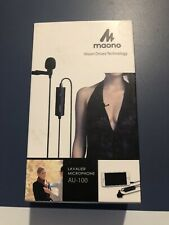 Lavalier Lapel Microphone, MAONO AU100R Rechargeable Omnidirectional Condenser
