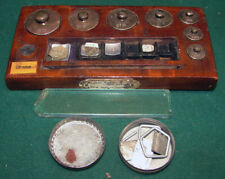 VINTAGE AUGUST SAUTER CENTRAL SCIENTIFIC BALANCE SCALE BRASS WEIGHT SET GERMANY