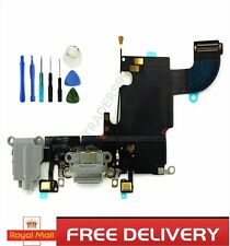 For iPhone 6s Charging Port Dock Flex Cable With Dual Mic Headphone White