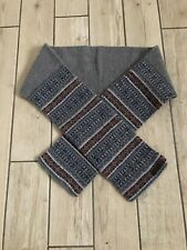00a9e2fbce9d0 TED BAKER 100% LAMBSWOOL FAIRISLE SCARF IN A GREY MIX MADE IN UK