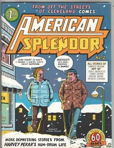 American Splendor 2 F+ (6.5) 1977 R. Crumb, Harvey Pekar! 1st print!
