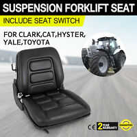 SUSPENSION FORKLIFT SEAT with Switch HYSTER CLARK, BAKER, TOYOTA, MITSUBISHI CAT