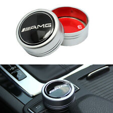 Black AMG Logo I Drive Multimedia Controller Cover Adhesive For Mercedes Benz