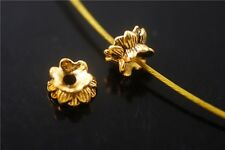 Wholesale 15pcs Golden Metal Beads Loose Spacer Jewelry Charms Findings 5.5x9mm